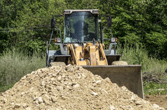 Bulldozer on construction site Stock Photography