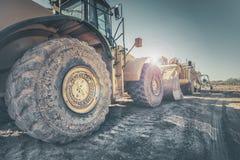 Bulldozer on construction site stock photo