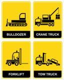 Bulldozer, crane, tow truck Stock Image