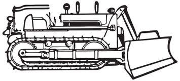 Bulldozer 2 royalty-vrije illustratie