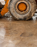 Bulldozer deep in mud. Closeup of bulldozer deep in mud Stock Image