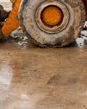 Bulldozer deep in mud Stock Image