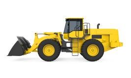 Bulldozer del caricatore della ruota isolato Immagine Stock Libera da Diritti
