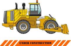 Bulldozer della ruota Macchina della costruzione pesante Vettore Immagine Stock Libera da Diritti
