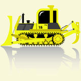 Bulldozer detailed  icons can be used for the site, smart phone, in magazines and newspapers, postcards, etc. Royalty Free Stock Photos