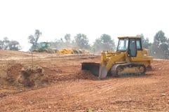 Bulldozer die land vormt Royalty-vrije Stock Foto