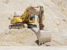 Bulldozer digging Stock Photography