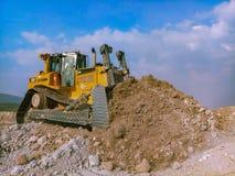 Bulldozer,dozer is working in mining. stock photos
