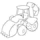Bulldozer Drawing Stock Image