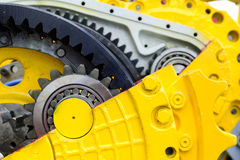 Bulldozer drive gear Stock Photography