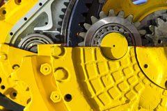 Bulldozer drive gear mechanism Royalty Free Stock Photos