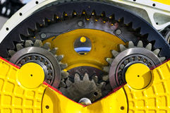 Bulldozer drive gear mechanism Royalty Free Stock Images
