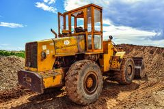 Bulldozer, Engine, Equipment Royalty Free Stock Photos