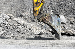 Bulldozer on excavation Royalty Free Stock Photo