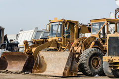 Bulldozer, excavator on a construction site Royalty Free Stock Photography