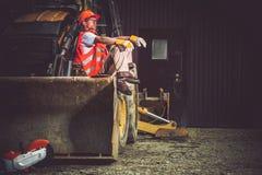 Bulldozer Excavator Operator Royalty Free Stock Image
