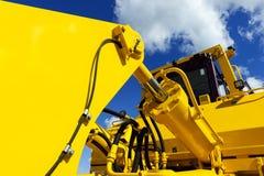 Bulldozer gele lepel royalty-vrije stock foto's