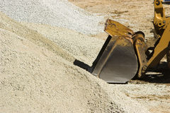 Bulldozer and gravel Royalty Free Stock Photo