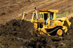 Bulldozer Hill Royalty Free Stock Image