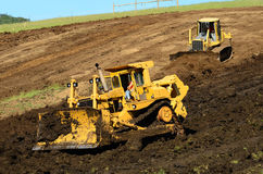Bulldozer Hill Royalty Free Stock Photo