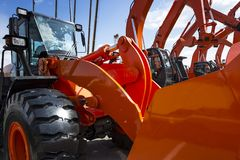 Construction machines row Royalty Free Stock Photography