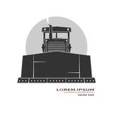 Bulldozer icon. Isolated on background. Vector illustration Royalty Free Stock Images