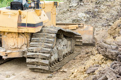 Bulldozer In Construction Site Royalty Free Stock Image