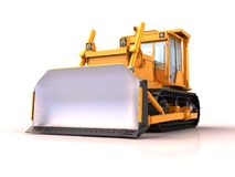 Bulldozer isolated Stock Photo