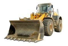 Bulldozer isolated on white Royalty Free Stock Images