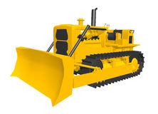Bulldozer isolated on white background. Computer generated 3D illustration with a bulldozer isolated on white background Royalty Free Stock Image