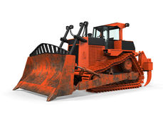 Bulldozer Isolated. On white background. 3D render Royalty Free Stock Photos