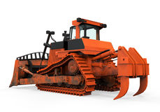 Bulldozer Isolated. On white background. 3D render Royalty Free Stock Photography