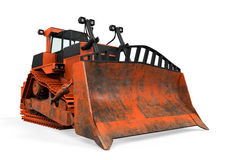 Bulldozer Isolated. On white background. 3D render Stock Images