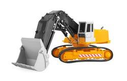 Bulldozer isolated on white Royalty Free Stock Photo