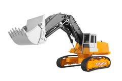 Bulldozer isolated on white Stock Images