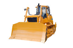 Bulldozer, isolated on white Stock Images