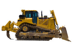 Bulldozer in isolation Stock Image