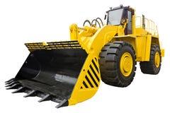 Bulldozer isolato su bianco Fotografie Stock