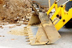 Bulldozer on the job Royalty Free Stock Photos