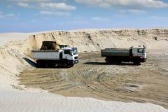 Bulldozer loading truck Royalty Free Stock Image