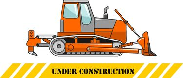 Bulldozer Macchine della costruzione pesante Vettore Immagine Stock Libera da Diritti