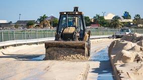 Bulldozer at Maho Beach Royalty Free Stock Photography