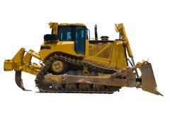 Bulldozer nell'isolamento immagine stock