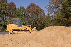 Bulldozer On Dirt Royalty Free Stock Images