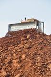 bulldozer op het werk Stock Foto