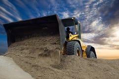 Bulldozer op het werk Stock Afbeelding