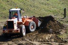 Bulldozer op het werk Royalty-vrije Stock Foto