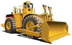 Bulldozer op wielen stock illustratie