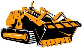 Bulldozer op wit vector illustratie