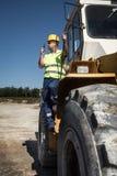 Bulldozer operator Royalty Free Stock Photos